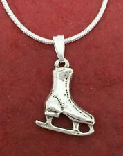 Ice Skate Boot Necklace skater skating Boots ice hockey jewellery