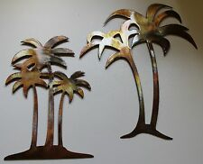 Palm Tree Set Metal Wall Art Decor