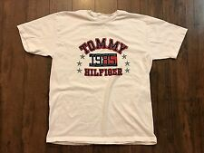 Vintage Tommy Hilfiger Jeans Shirt Sz M Big Logo Flag Spell Out