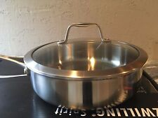 Zwilling J.A. Henckels Spirit Stainless 3 Quart Saute Pan with Glass Lid, 3qt