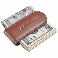 Slim Leather Money Clip for Men Compact Cash Card Holder strong magnets Gift Box