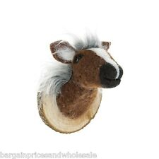 Novelty Funky HORSE Funny Felt Trophy Head Wall Mounted Gift Grandparent Dad