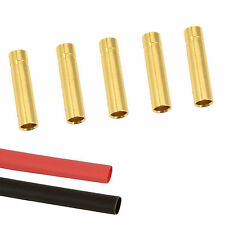 5 x RC 4mm Female Gold Bullet Connector + Heat Shrink Lipo Battery ESC Motor