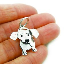 925 Sterling Silver Dachshund Sausage Dog Pendant