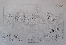 Theo Zasche PARLAMENTSTAGUNG Karikatur um 1924 Druck Österreich Wien print