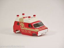 Aurora AFX New Carrosserie Dodge Van Ambulance / Rescue Car Tomy Tyco AFX, etc