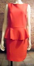 stunning sleeveless lipstick red peplum dress 12 topshop tall