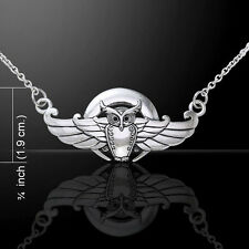 Cari Buziak Celtic Flying Owl .925 Sterling Silver Necklace by Peter Stone