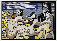 Kunstpostkarte / Postcard - Roy Lichtenstein:  Reclining Nude