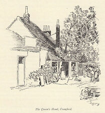 Queens Head, Cranford, Hugh Thomson 1909 print
