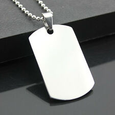 Morden Silver Plated New Hot Cool Solid Army ID Dog Tag Stainless Steel Pendant