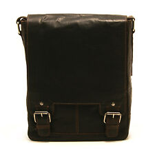 ASHWOOD - BROWN LEATHER KINGSTON A4 MESSENGER BAG WITH IPAD POCKET
