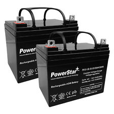 12V 35AH SLA Battery for Pride Dynamo / Jazzy / Jet 3 / Jet 7 - 2PK