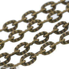 10M Textured Link-Opened Chain 4x2.5mm 0.7mm thick