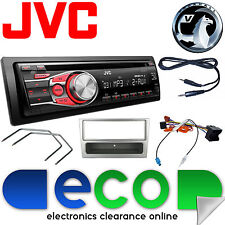 Vauxhall CORSA C 2004-2006 Jvc Auto Radio Stereo UPGRADE KIT CD MP3 AUX argento