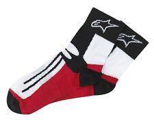 Einheitsgröße Schwarz//Grau MotoGP Rennen Stiefel Socken 1 Paar