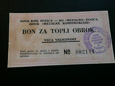 Local note Bosnia And Herzegovina- Meal Greater Value Nd1993 Metalno - Zenica