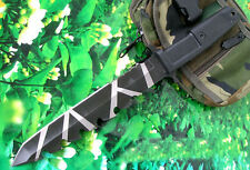 13 '' New 8CR13 Blade BackSerrated ABS Handle Survival Bowie Hunting Knife VTH11