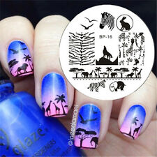 Zèbre Animal Ongle Nail Art Stamping pochoir Template Image plaque BORN PRETTY16