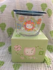 Hello Kitty Sanrio Vintage Glass Cup With Lid 2002 Rare From Japan