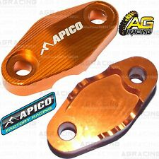 Apico Orange Brake Hose Brake Line Clamp For KTM EXC 300 2017 Motocross Enduro