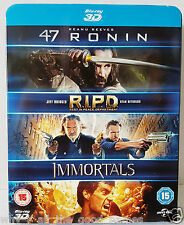 Blu-ray 3D - 3 Action Movie Film Box Set : 47 RONIN / R.I.P.D. / IMMORTALS