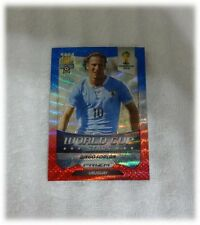 2014 Panini Prizm World Cup Blue Red Wave Stars Diego Forlan - Uruguay #45