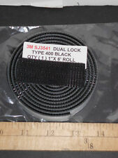 "3M SJ3541 RECLOSABLE FASTENER  BLACK  DUAL LOCK TYPE 400 1"" X 25FT ROLL SJ3541"
