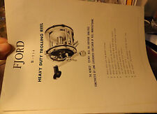 VINTAGE FJORD S-114 TROLLING FISHING REEL PAPER W/ SCHEMATICS
