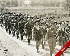 NEW ZEALAND ARMY SOLDIERS MARCHING WORLD WAR 1 WWI I PHOTO REAL CANVAS ART PRINT