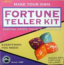 FORTUNE TELLER KIT DESIGNS, PAPER, IDEAS, INSTRUCTIONS MAKES 40+! AGE 8+!  BNIP