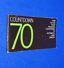 VTG 1970 Polaroid Instant Land Pack Camera Countdown 70 Instruction Manual Book