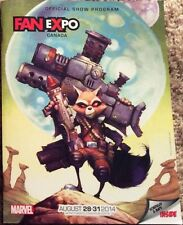 2014 FAN EXPO CANADA CONVENTION PROGRAM MARVEL ROCKET RACCOON VARIANT PROMO