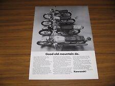 1969 Print Ad Kawasaki 90, 120, 175 & 238 cc Motorcycles Santa Ana,CA