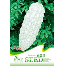 FD1240 Rare White Balsam Pear Seed Bitter Melon Organic Vegetable 1 Pack 10 Seed