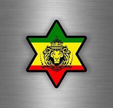 Sticker car decal rasta reggae JAH macbook lion of judah one love rastafarai r18
