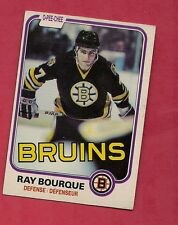 1981-82 OPC # 1 BRUINS RAY BOURQUE  2ND YEAR  CARD