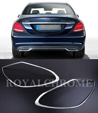US STOCK X2 ROYAL PREMIUM CHROME REAR LAMP Trims for Mercedes C Class W205 Sedan