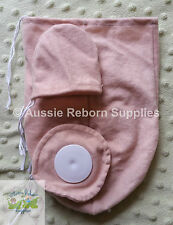 "Reborn Babies Cloth Body 20"" Baby Doe Suede 3/4 Arm Full Jointed Leg #5919"