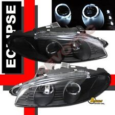 97-99 Mitsubishi Eclipse Dual Halo LED Black Projector Headlights G2 1 Pair
