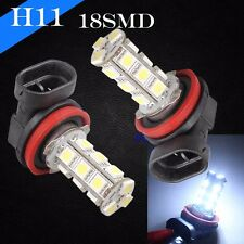H11 Xenon Chip LED 18 SMD Super White 6000K Headlight 2 x Light Bulb Low Beam