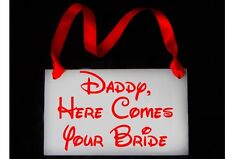 Disney Here comes the Bride Daddy here comes Mummy handheld wedding sign