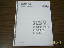 Yamaha golf cart repair service manual G2 G9 golf carts on disc NICE