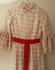 Vintage 1960s Red and White Evening Dress by ❤Ricci Michaels of Mayfair❤ Size S