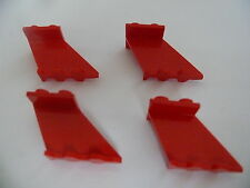 Lego 4 queues d avion rouges set 6615 4002 6939 6529 / 4 red tails