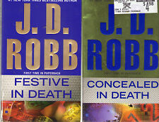 Set Lot of 4 Nora Roberts J.D. Robb In Death Series # 37-40 Festive Concealed