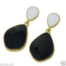 Stile Beautiful Cute Imitation Fashion Black Dangle Earrings