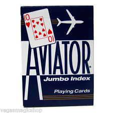 Aviator Jumbo Index Blue Deck Playing Cards Poker Size USPCC Premium Quality New