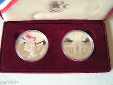Legal Tender Two 90% US Mint Silver Proof Dollars 1984 Los Angeles Olympic Games