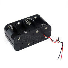 1 PCS 8 x C Size Cell Battery Holder Box 12V DC Case With Wire Lead Double Side